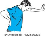 man with back pain illustration | Shutterstock .eps vector #432680338