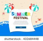 summer illustration  | Shutterstock .eps vector #432684448