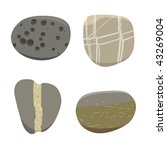 Four Sea Stone   Vector...