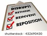 disrupt rethink reinvent... | Shutterstock . vector #432690430