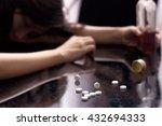 several pill spilled on table...   Shutterstock . vector #432694333