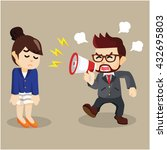 angry at employee | Shutterstock .eps vector #432695803