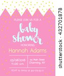 vector cute baby shower... | Shutterstock .eps vector #432701878