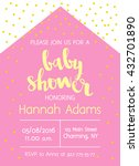 vector cute baby shower... | Shutterstock .eps vector #432701890