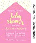 vector cute baby shower... | Shutterstock .eps vector #432701890