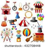 circus equipment collection set | Shutterstock .eps vector #432708448