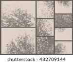 grunge textures set. rust metal ... | Shutterstock .eps vector #432709144