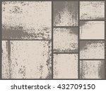 grunge textures set. rust old... | Shutterstock .eps vector #432709150