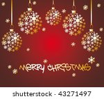 christmas ball made from golden ... | Shutterstock .eps vector #43271497