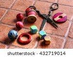 set for needlework from thread... | Shutterstock . vector #432719014