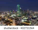 View Over The Dallas Downtown...