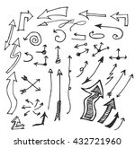 vector hand drawn arrows set... | Shutterstock .eps vector #432721960