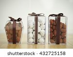 Various Chocolate In Plastic Box