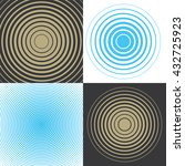 musical wave. set of vector... | Shutterstock .eps vector #432725923