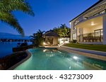 luxurious mansion exterior at... | Shutterstock . vector #43273009