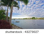 Waterfront views from Mansion - stock photo
