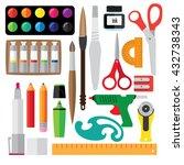 set of creative tools. it... | Shutterstock .eps vector #432738343