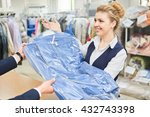 girl laundry worker pays into... | Shutterstock . vector #432743398