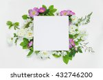 scrapbook page of wedding or... | Shutterstock . vector #432746200