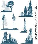illustration with fir trees set ... | Shutterstock .eps vector #432746563