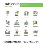 set of modern vector line... | Shutterstock .eps vector #432753244