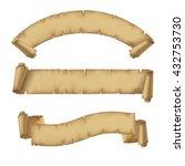 parchment ribbons set. vintage... | Shutterstock . vector #432753730