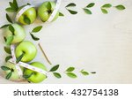 apples with tape measure on... | Shutterstock . vector #432754138