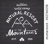 mountains handdrawn sketch...   Shutterstock .eps vector #432760258