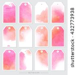 vector. set of tags with... | Shutterstock .eps vector #432773938