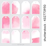 vector. set of tags with... | Shutterstock .eps vector #432773950
