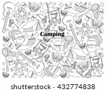 camping design colorless set... | Shutterstock . vector #432774838