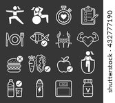 diet and exercise icons. vector ... | Shutterstock .eps vector #432777190