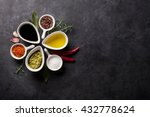 herbs  condiments and spices on ... | Shutterstock . vector #432778624
