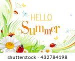summer background with... | Shutterstock .eps vector #432784198