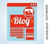 blogging design. social media... | Shutterstock .eps vector #432784909