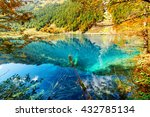 scenic view of lake with azure... | Shutterstock . vector #432785134