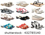 female shoes collection on... | Shutterstock . vector #432785140