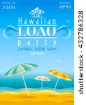 beach party luau background...   Shutterstock .eps vector #432786328
