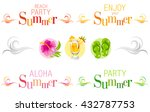 summer banners with text ... | Shutterstock .eps vector #432787753