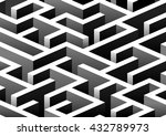 isometric seamless maze pattern....   Shutterstock .eps vector #432789973