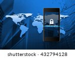 key icon and cyber security... | Shutterstock . vector #432794128