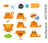 red cat. set of characters.... | Shutterstock . vector #432794533