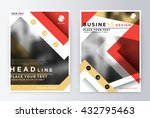 annual report brochure. flyer... | Shutterstock .eps vector #432795463