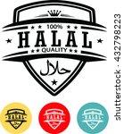 halal label  halal tag design | Shutterstock .eps vector #432798223