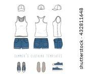 vector illustration of women's... | Shutterstock .eps vector #432811648