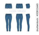 women's clothing set of blue...