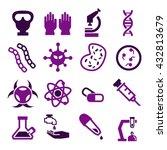 biohazard  toxic icon set | Shutterstock .eps vector #432813679