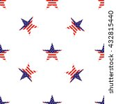 pattern of star with american... | Shutterstock .eps vector #432815440