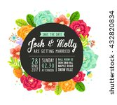 save the date invitation card... | Shutterstock .eps vector #432820834