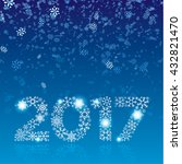 happy new year 2017 greeting... | Shutterstock .eps vector #432821470